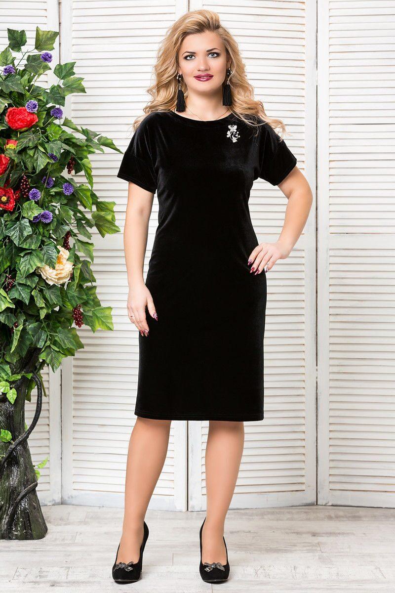 Классические платья прямые для полных