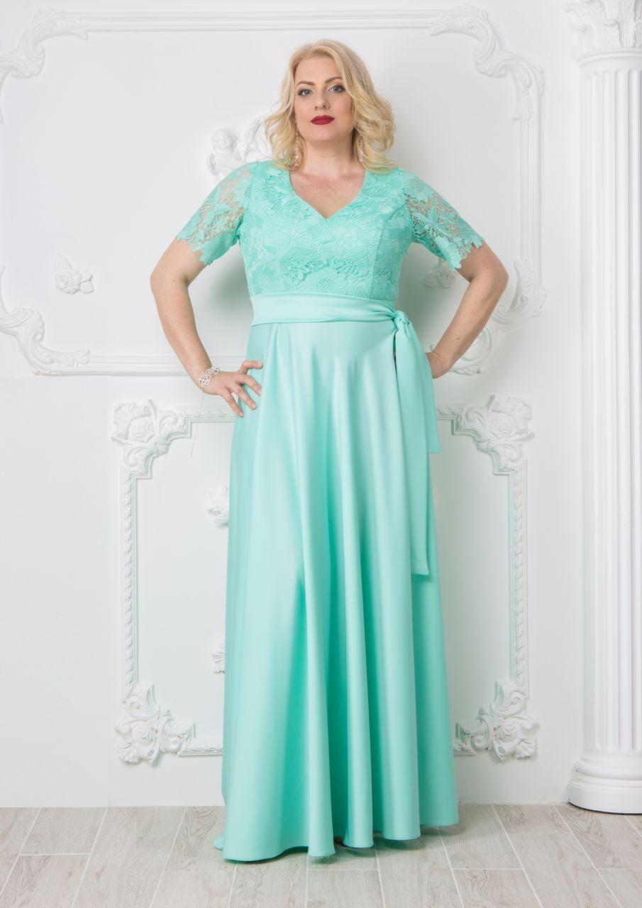 9176d6dd0df Купить Платье в пол мятный цвет (тиффани) в СПб